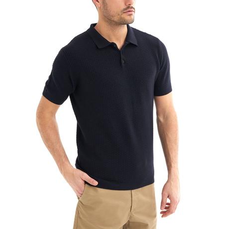 Zena Short-Sleeve Polo // Navy (Small)