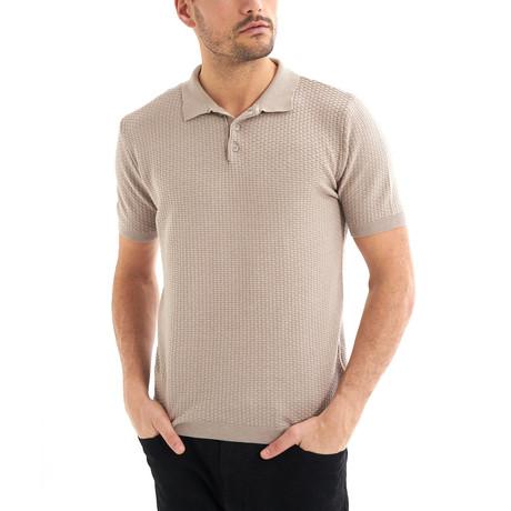 Zena Short-Sleeve Polo // Beige (Small)