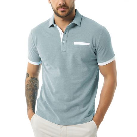 Brenno Short-Sleeve Polo // Indigo (Small)