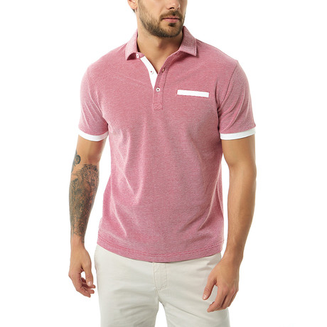 Brenno Short-Sleeve Polo // Red (Small)