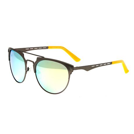 Hercules Polarized Sunglasses // Titanium // Gunmetal Frame + Celeste Yellow Lens (Silver Frame + Purple Lens)