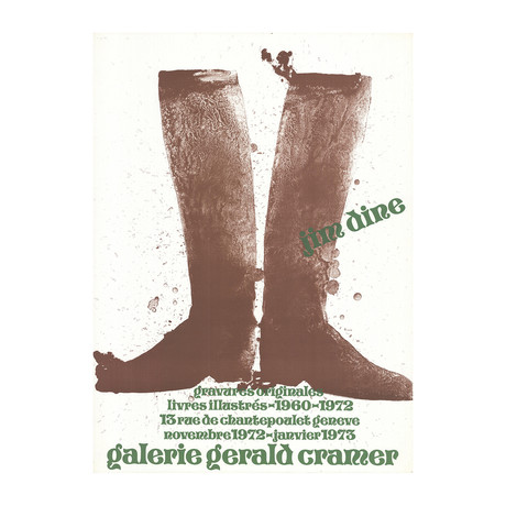 Brown Boots // Jim Dine // 1972 Lithograph