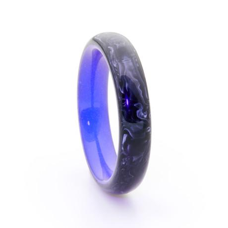 Carbon Fiber Ring + Glowing Interior // Purple (Size 5)