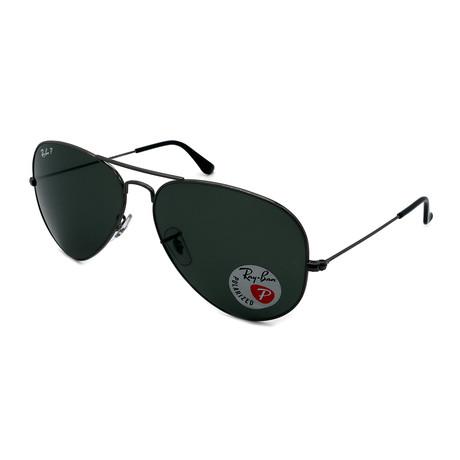 Ray-Ban // Unisex RB3025-004-58 Aviator Polarized Sunglasses // Gunmetal