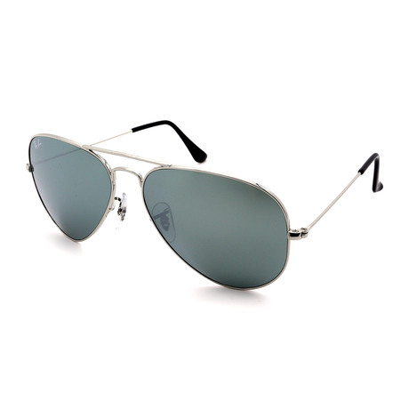 Ray-Ban // Unisex RB3025-W3277 Aviator Large Sunglasses // Silver + Silver Mirror