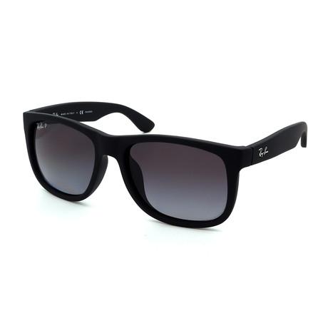 Ray-Ban // Unisex RB4165F-622-T3 Polarized Sunglasses // Matte Black + Gray Gradient
