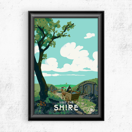 """Visit the Shire // Lord of the Rings (11""""W x 17""""H)"""
