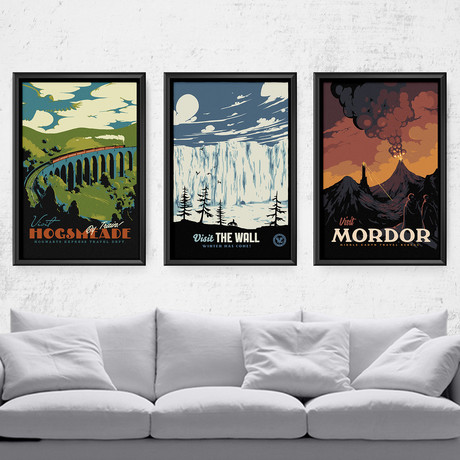 """Magical Destination Series // Harry Potter // Game of Thrones // Lord of the Rings (11""""W x 17""""H)"""