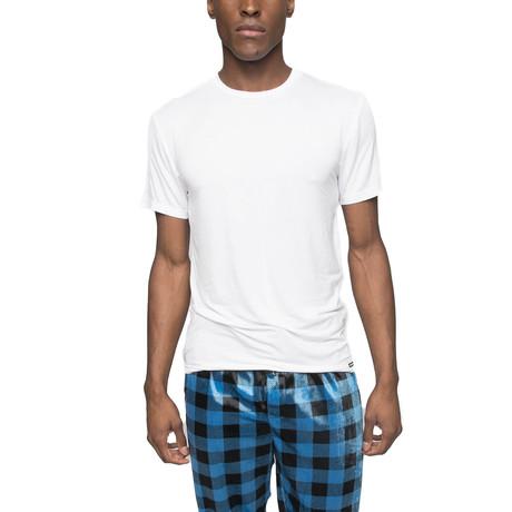 Cloud Long Short Sleep Shirt // White (S)