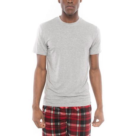 Cloud Long Short Sleep Shirt // Gray (S)