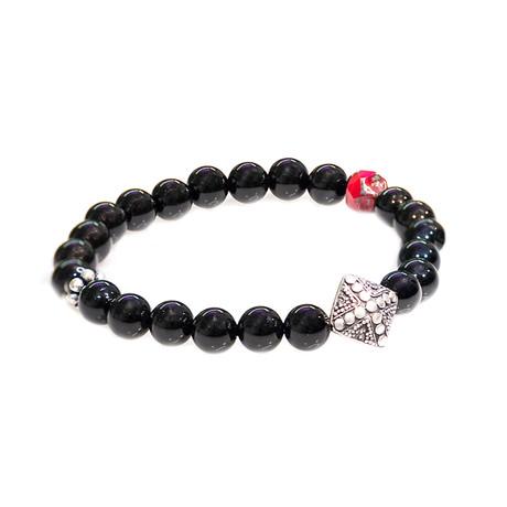 Dell Arte // Onyx + Bohemian Crystal Bracelet // Black + Silver