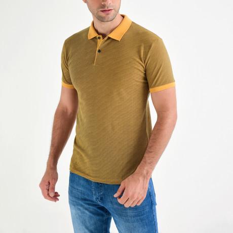 Pompeo Short Sleeve Polo // Mustard (S)