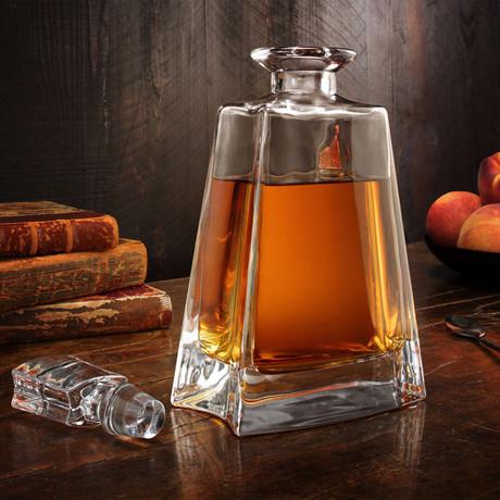 Luna Whiskey Decanter + 2 Whiskey Glasses