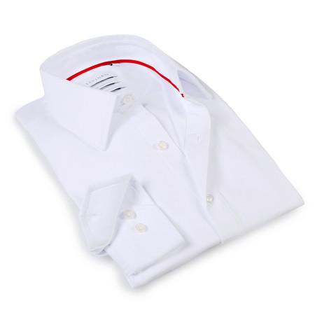 Solid Dress Shirt // 6-Way Stretch // White (S)