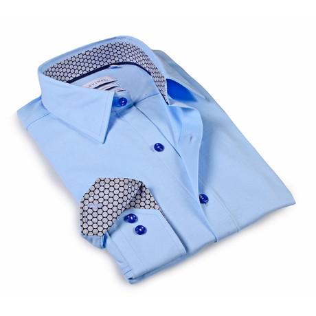 Solid Dress Shirt // 6-Way Stretch // Sky Blue + Blue (S)
