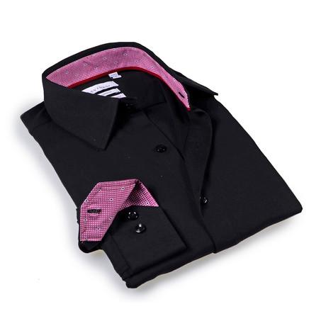 Solid Dress Shirt // 6-Way Stretch // Black (S)