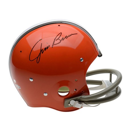 Jim Brown // Cleveland Browns // Autographed Football Helmet