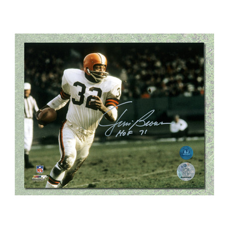 Jim Brown // Cleveland Browns // Autographed Photo