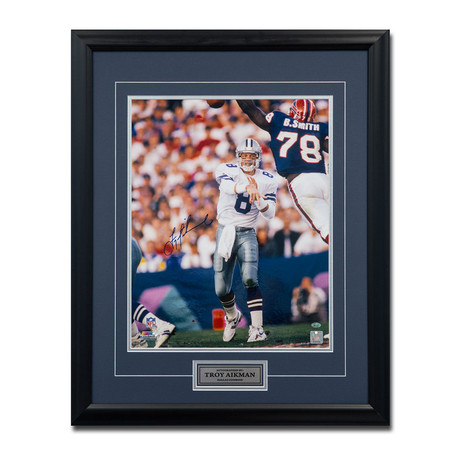 Troy Aikman // Dallas Cowboys // Autographed Photo Display