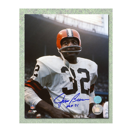 Jim Brown // Cleveland Browns // Autographed Rookie Photo
