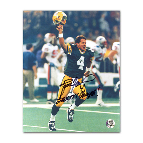 Brett Favre // Green Bay Packers // Autographed + Inscribed Super Bowl XXXI Photo