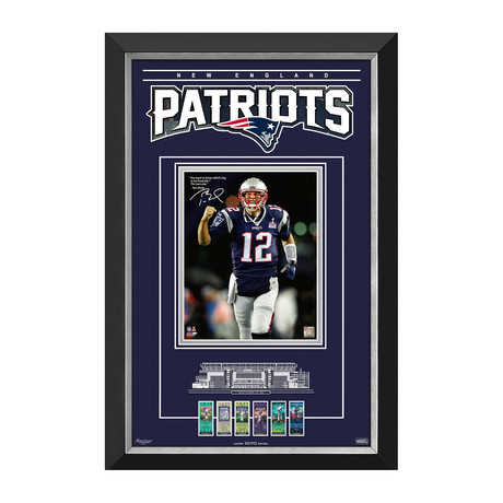 Tom Brady // New England Patriots // Limited Edition Collector Frame // Facsimile Signed