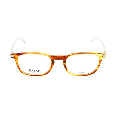 Men's 0786 Optical Frames // Orange Havana + Black