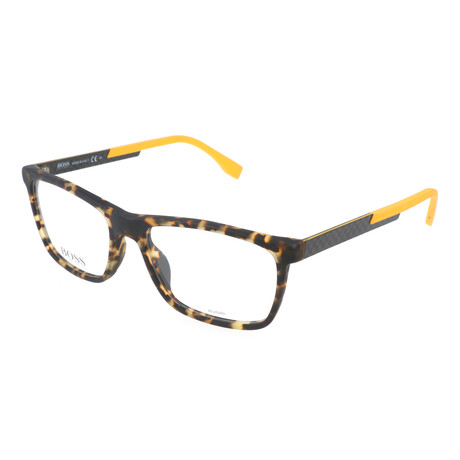 Men's 0733 Optical Frames // Havana + Carbon Yellow