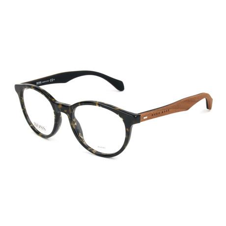 Men's 0778 Optical Frames // Khaki + Havana Brown