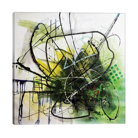 "Sunny Flower // Yossef Ben-Sason (26""W x 26""H x 1.5""D)"
