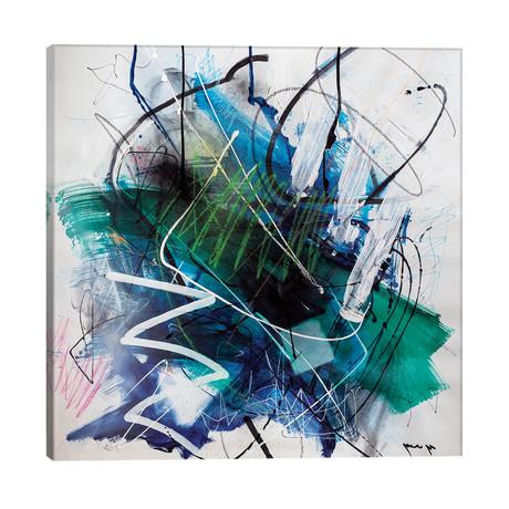 """Deeps Of Blue // Yossef Ben-Sason (26""""W x 26""""H x 1.5""""D)"""