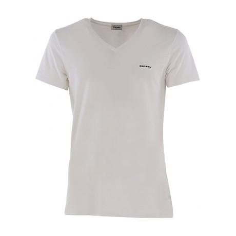 Michael Essentials Logo V-Neck T-Shirt // White (XS)