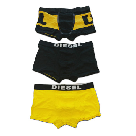 Damien Boxer Shorts // Yellow + Black // Pack of 3 (XS)