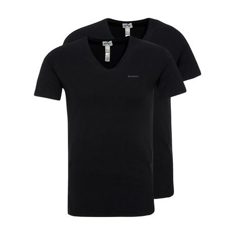 Michael Essentials T-Shirt // Black // Pack of 2 (XS)