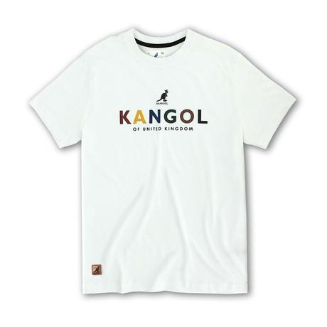 Kangol Block Letter Graphic T // White (S)