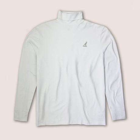 Embroidered Kangol Logo Turtleneck // White (S)
