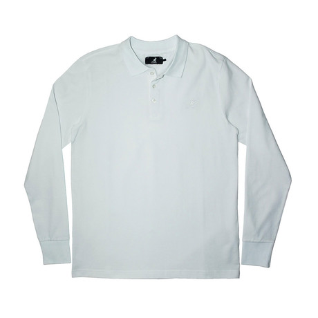 Solid Pique Long Sleeve Polo // White (S)