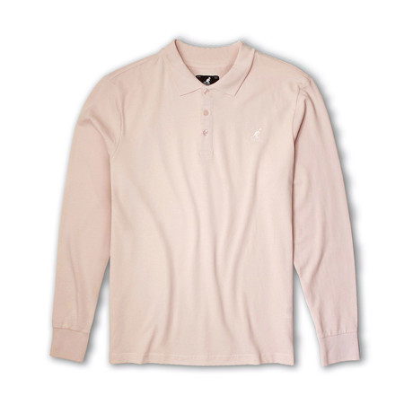 Solid Pique Long Sleeve Polo // Perfect Shell (S)