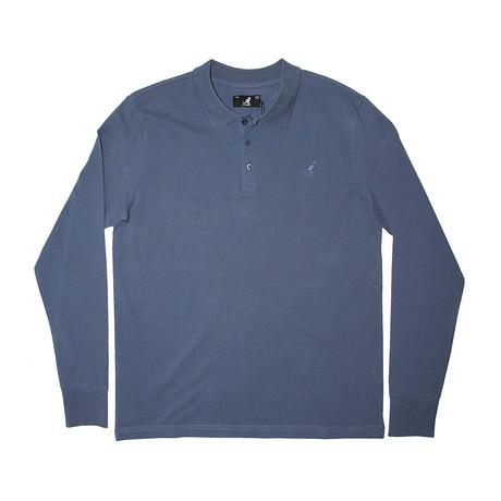 Solid Pique Long Sleeve Polo // Indigo Coast (S)