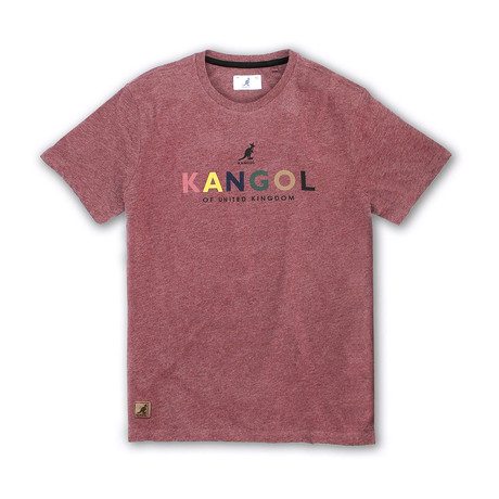 Kangol Block Letter Graphic T // Burgundy Mix (S)