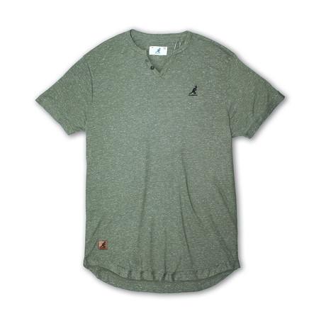 Skip Needle V Notch Short Sleeve Knit Top // Joshua Tree (S)