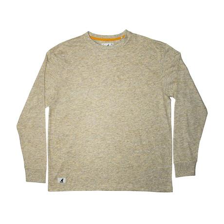 Linen Effect Long Sleeve T-Shirt // Yellow (S)