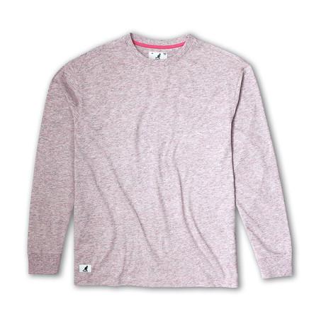 Linen Effect Long Sleeve T-Shirt // Pink (S)