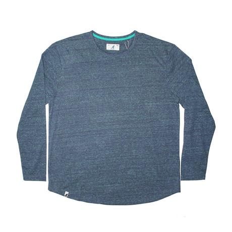 Tri Marl Long Sleeve T-Shirt // Denim (S)