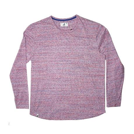 Tri Marl Long Sleeve T-Shirt // Pink (S)