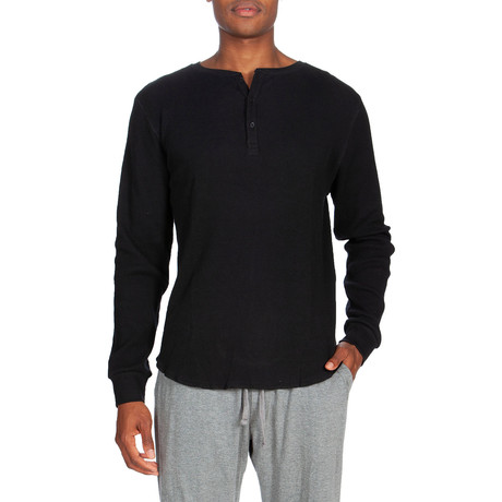 Waffle Knit Thermal // Black (S)