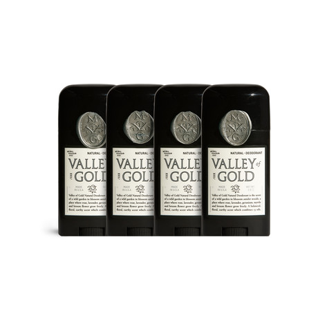 Valley of Gold Natural Deodorant // Set of 4