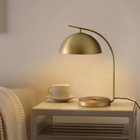 Domus Table Lamp // Brushed Brass