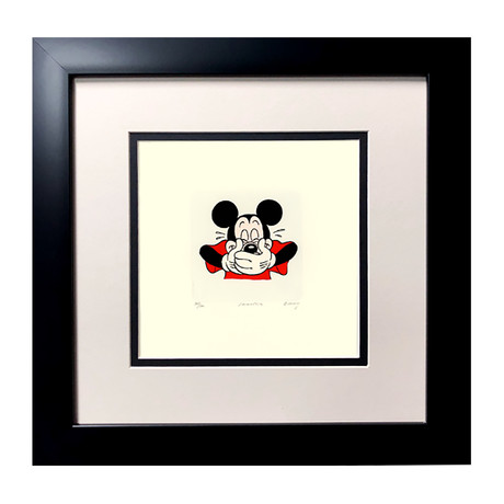 Mickey Mouse // Hand Painted Etching (Unframed)
