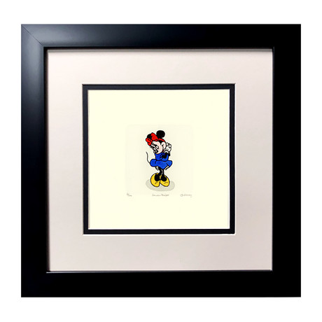 Minnie Mouse // Hand Painted Etching (Unframed)